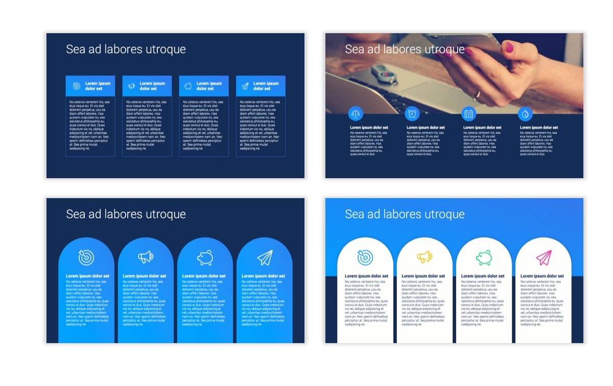Circles PPT Template - Professional - Navy - Bright - Business - Professional Slide14