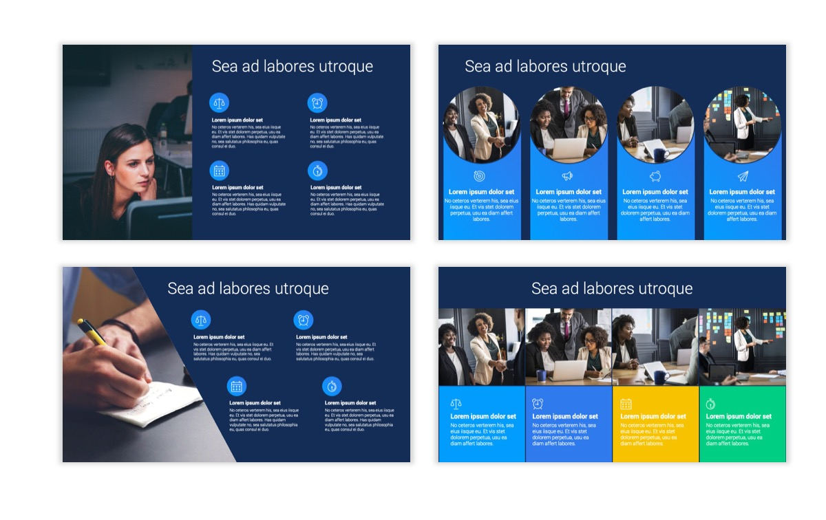 Circles PPT Template - Professional - Navy - Bright - Business - Professional Slide15