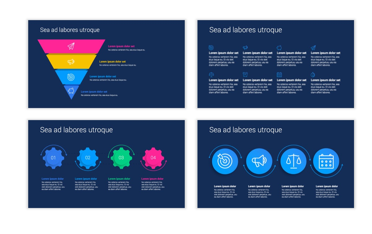 Circles PPT Template - Professional - Navy - Bright - Business - Professional Slide18