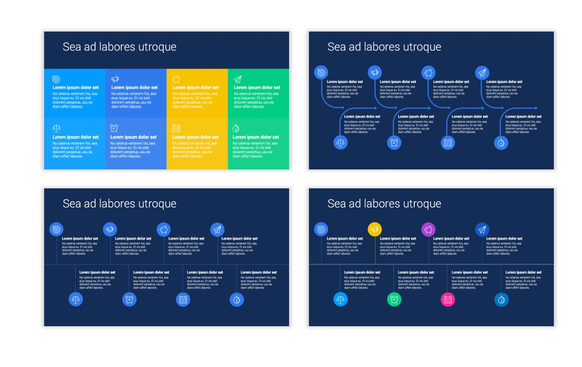 Circles PPT Template - Professional - Navy - Bright - Business - Professional Slide20