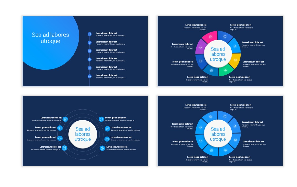 Circles PPT Template - Professional - Navy - Bright - Business - Professional Slide22