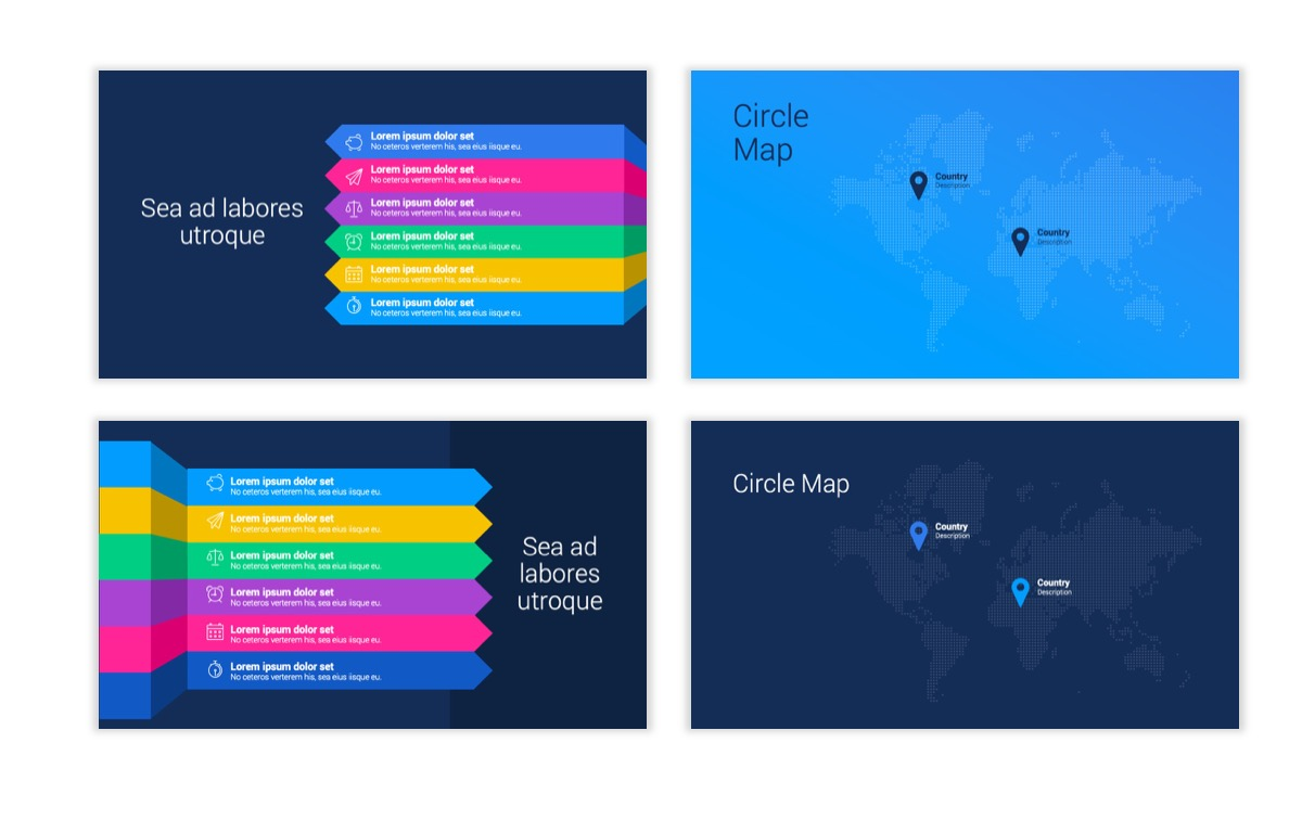 Circles PPT Template - Professional - Navy - Bright - Business - Professional Slide24