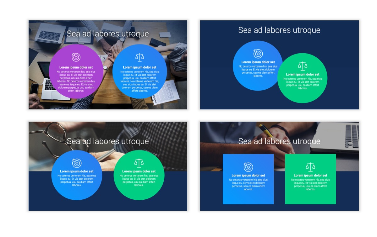 Circles PPT Template - Professional - Navy - Bright - Business - Professional Slide3