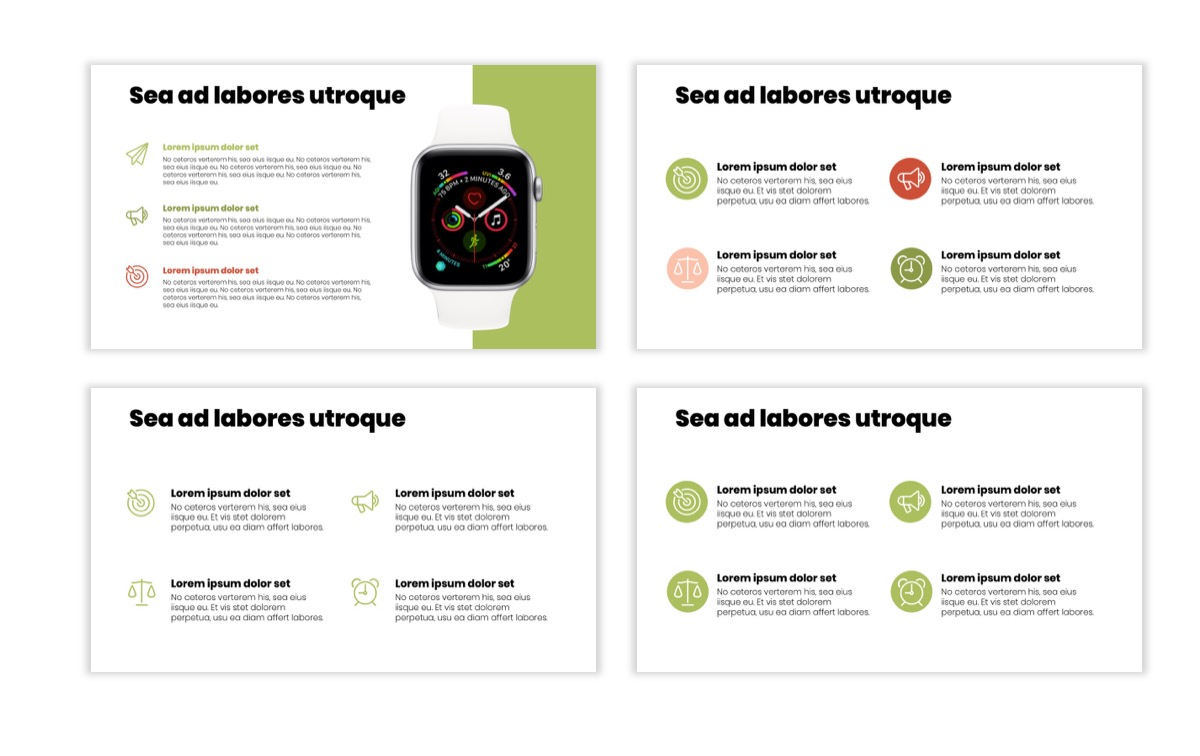 Circles PPT Template - Professional - Navy - Floral - Business - Professional Slide11