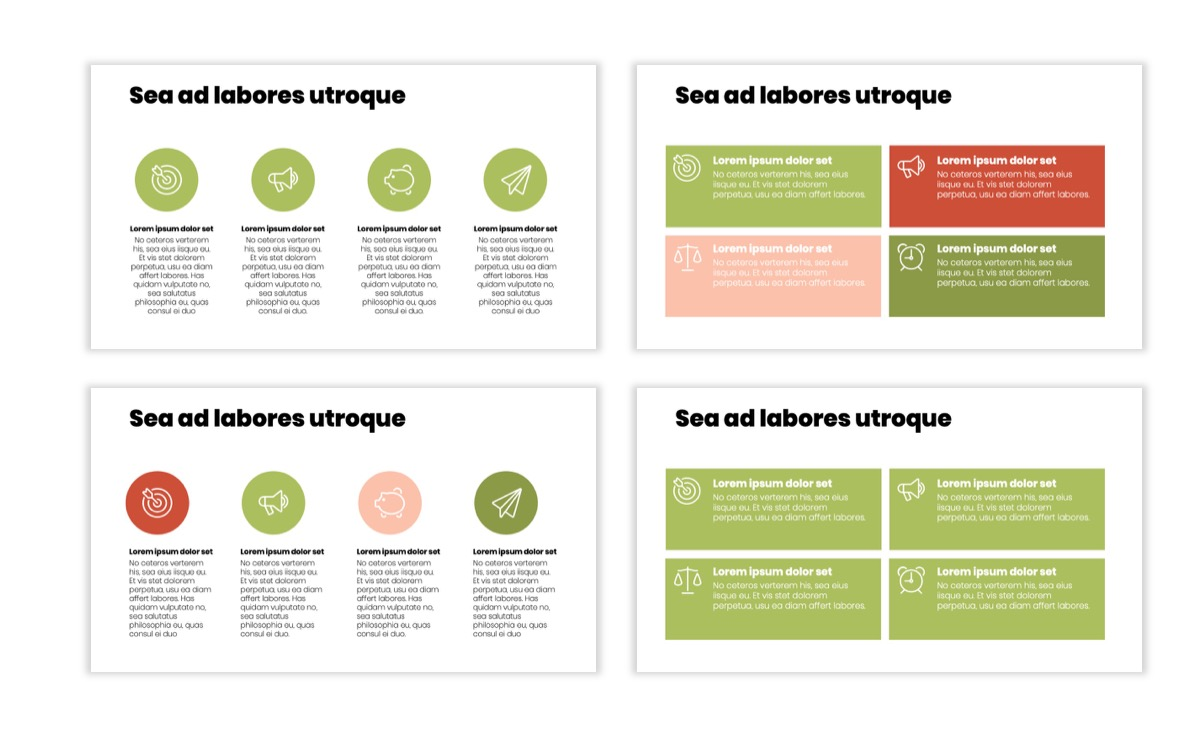 Circles PPT Template - Professional - Navy - Floral - Business - Professional Slide12