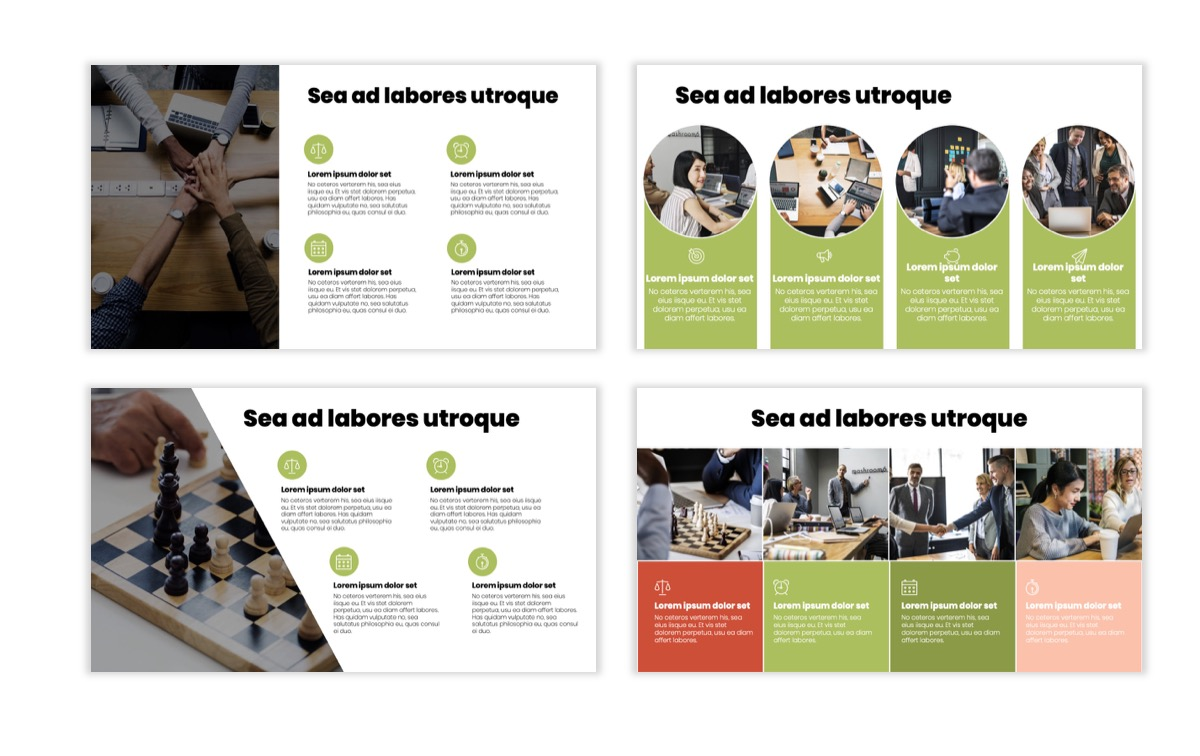 Circles PPT Template - Professional - Navy - Floral - Business - Professional Slide15
