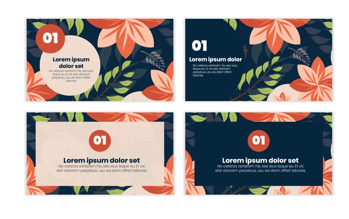Circles PPT Template - Professional - Navy - Floral - Business - Professional Slide2