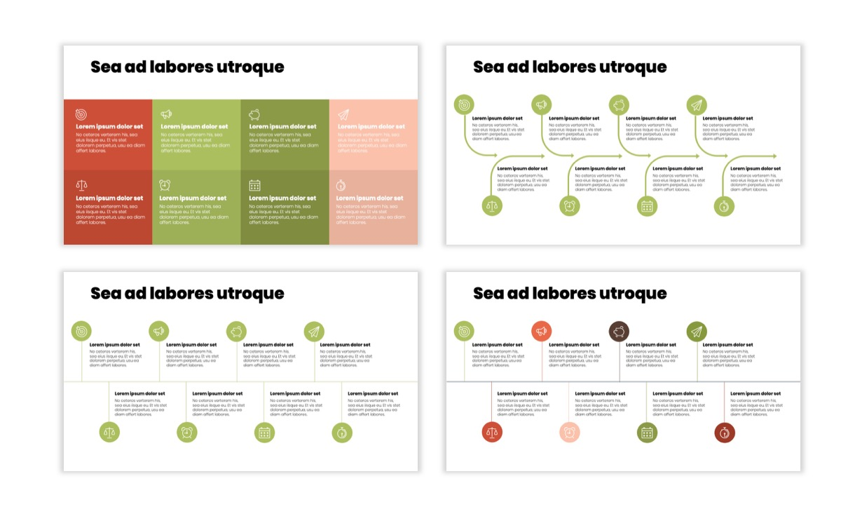Circles PPT Template - Professional - Navy - Floral - Business - Professional Slide20