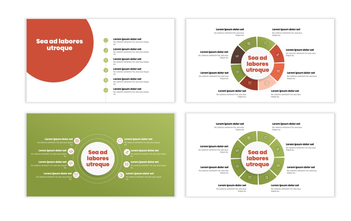 Circles PPT Template - Professional - Navy - Floral - Business - Professional Slide22
