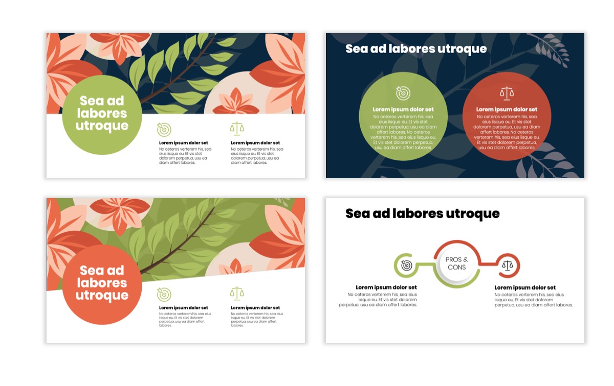 Circles PPT Template - Professional - Navy - Floral - Business - Professional Slide3