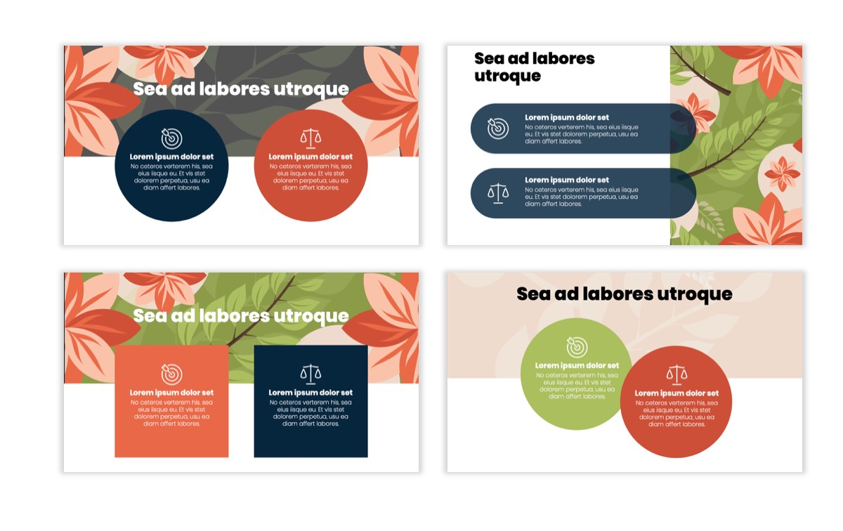 Circles PPT Template - Professional - Navy - Floral - Business - Professional Slide4
