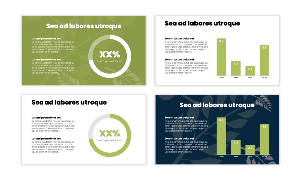 Circles PPT Template - Professional - Navy - Floral - Business - Professional Slide5
