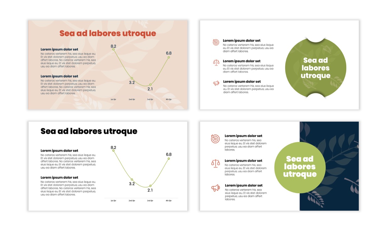 Circles PPT Template - Professional - Navy - Floral - Business - Professional Slide6