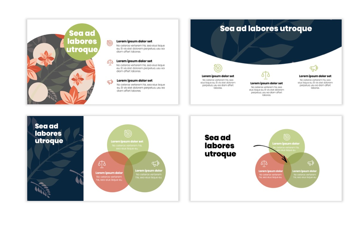 Circles PPT Template - Professional - Navy - Floral - Business - Professional Slide7