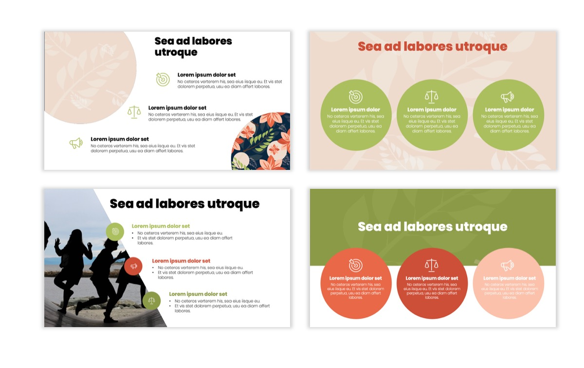 Circles PPT Template - Professional - Navy - Floral - Business - Professional Slide8