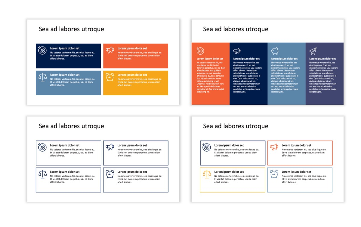Circles PPT Template - Professional - Navy - Orange - Business - Professional Slide13