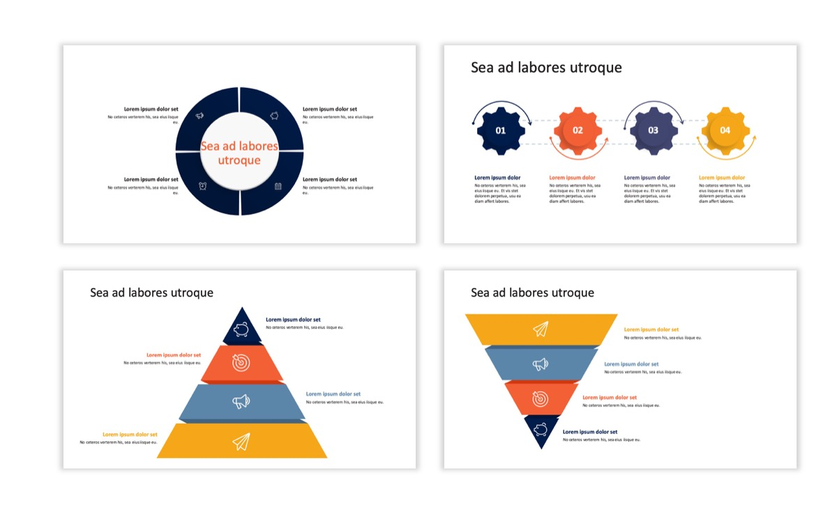 Circles PPT Template - Professional - Navy - Orange - Business - Professional Slide18
