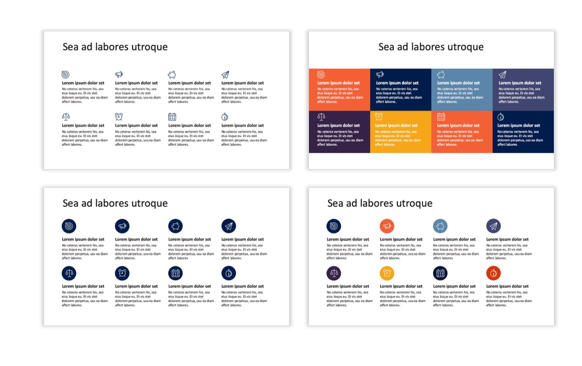 Circles PPT Template - Professional - Navy - Orange - Business - Professional Slide19