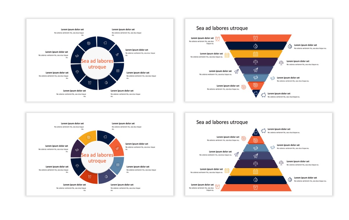 Circles PPT Template - Professional - Navy - Orange - Business - Professional Slide23