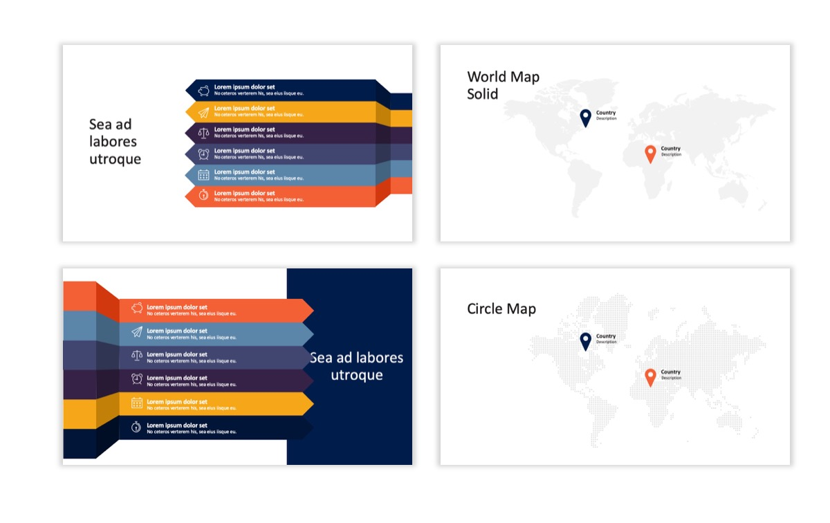 Circles PPT Template - Professional - Navy - Orange - Business - Professional Slide24