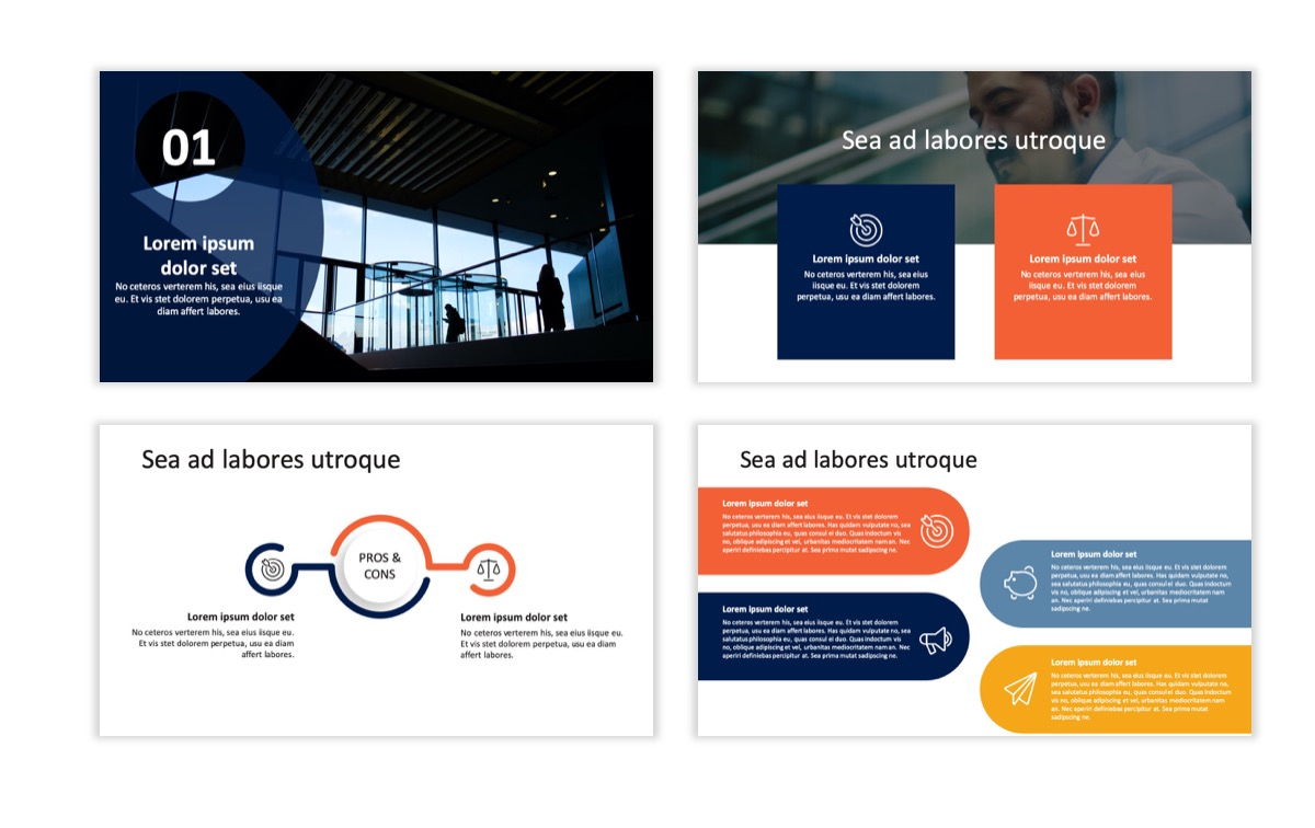 Circles PPT Template - Professional - Navy - Orange - Business - Professional Slide7