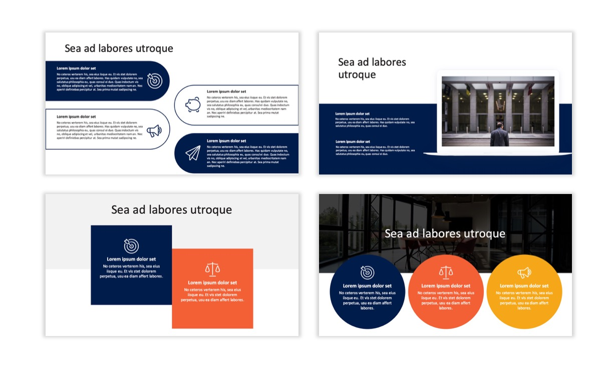 Circles PPT Template - Professional - Navy - Orange - Business - Professional Slide8