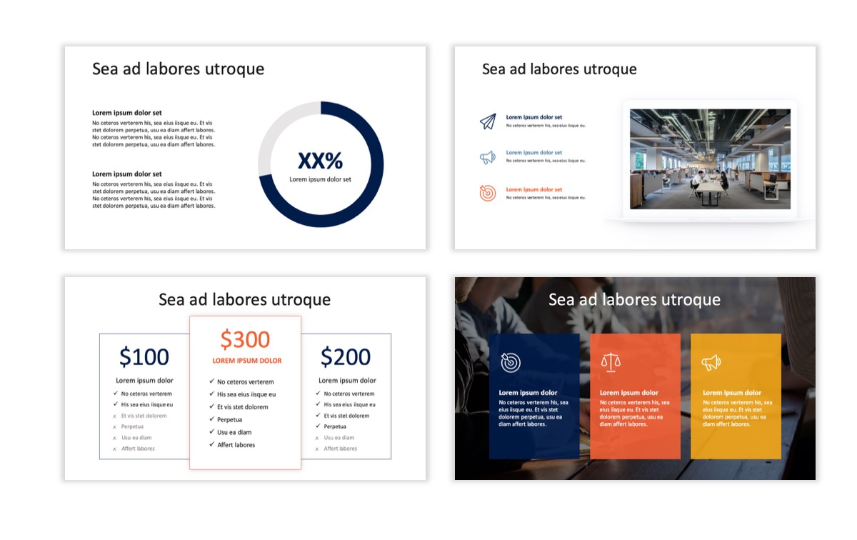 Circles PPT Template - Professional - Navy - Orange - Business - Professional Slide9