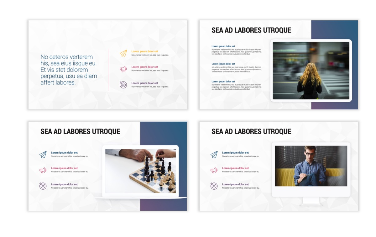 Circles PPT Template - Professional - Navy - Purple - Business - Professional Slide10