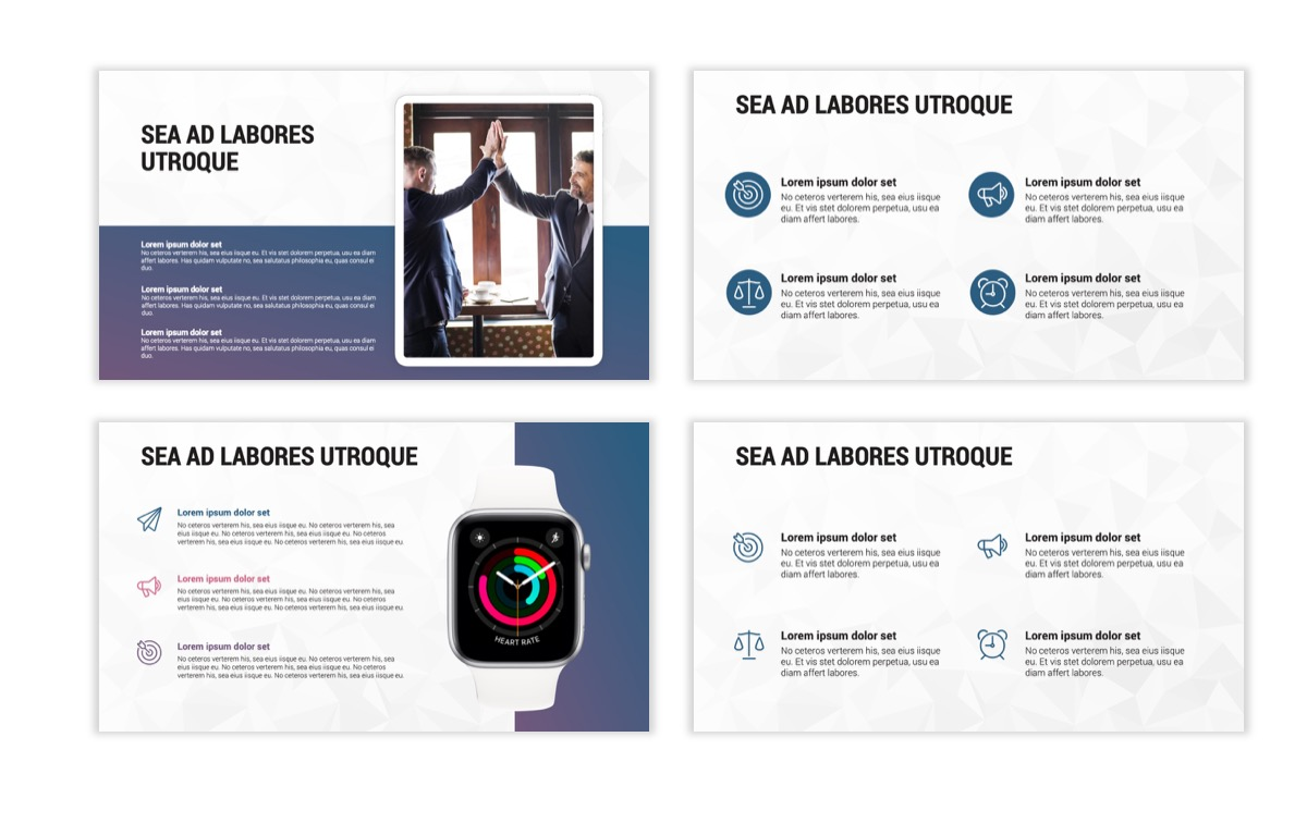 Circles PPT Template - Professional - Navy - Purple - Business - Professional Slide11