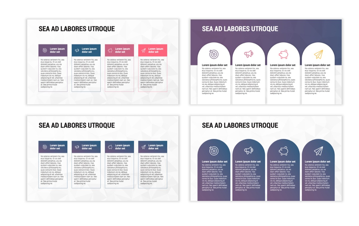 Circles PPT Template - Professional - Navy - Purple - Business - Professional Slide14