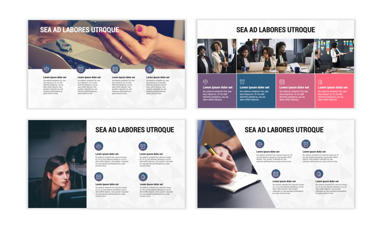 Circles PPT Template - Professional - Navy - Purple - Business - Professional Slide15