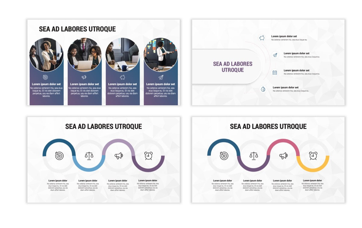 Circles PPT Template - Professional - Navy - Purple - Business - Professional Slide16