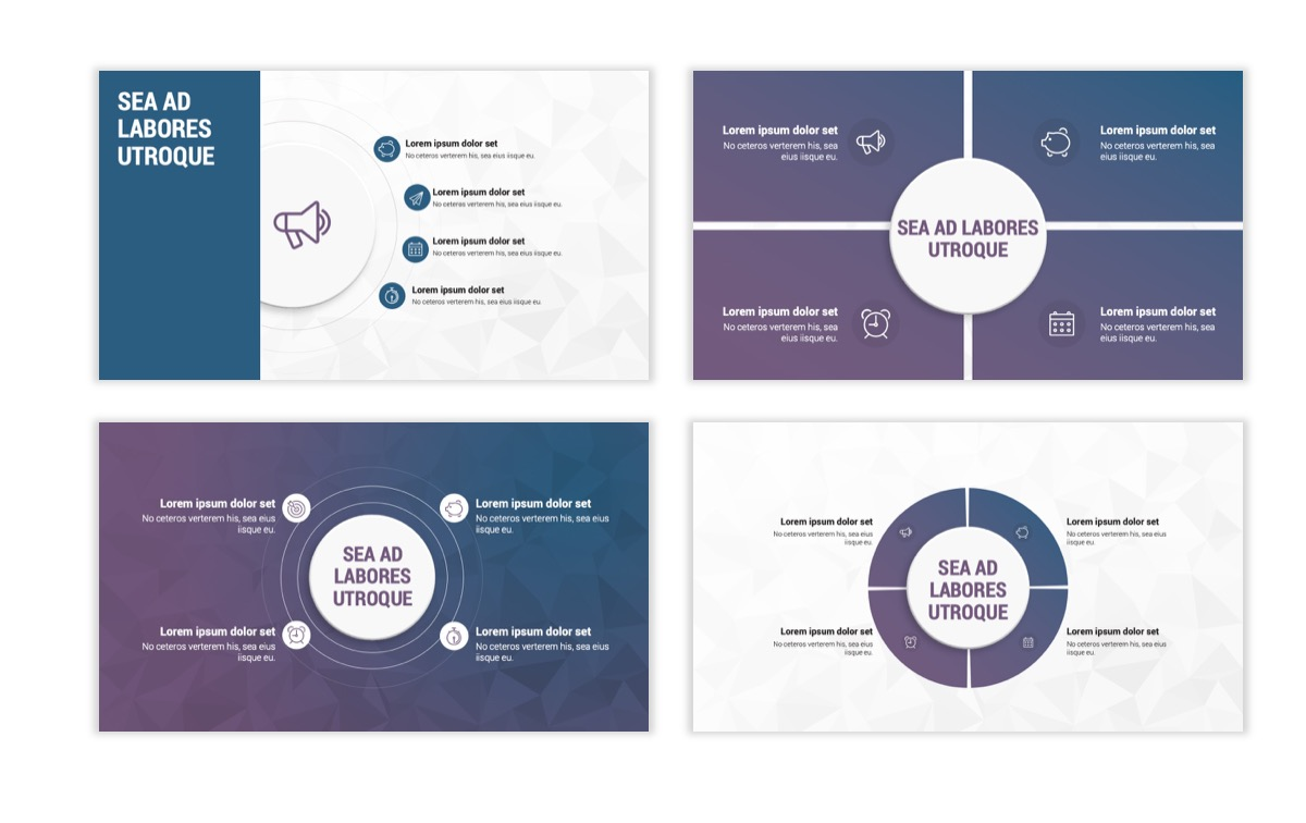 Circles PPT Template - Professional - Navy - Purple - Business - Professional Slide17