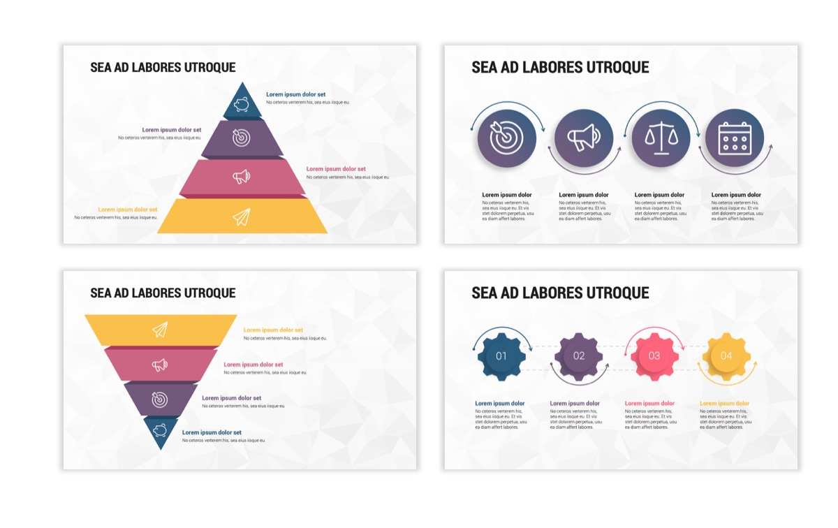 Circles PPT Template - Professional - Navy - Purple - Business - Professional Slide18