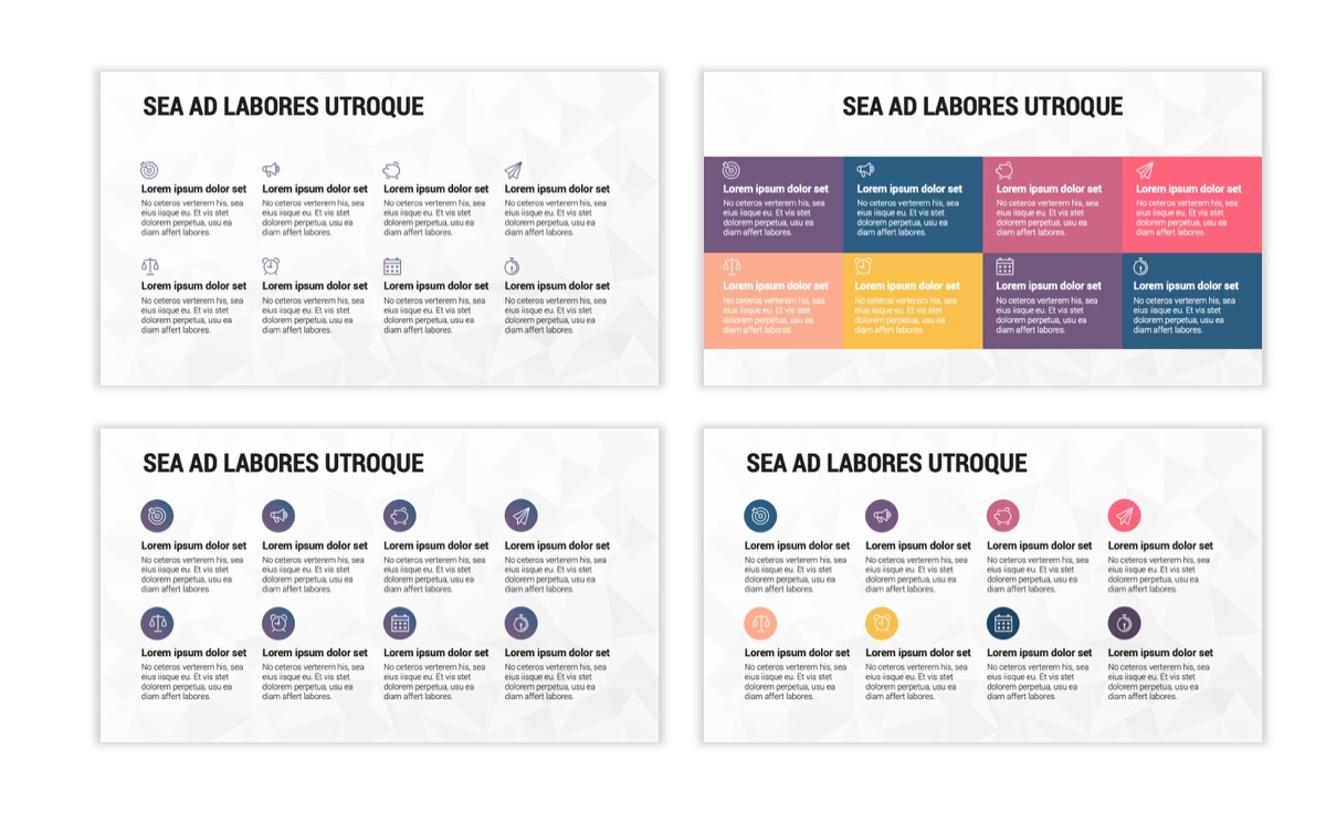 Circles PPT Template - Professional - Navy - Purple - Business - Professional Slide19