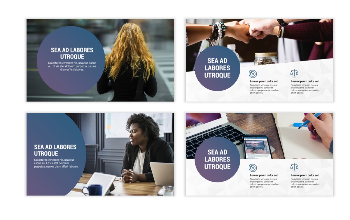 Circles PPT Template - Professional - Navy - Purple - Business - Professional Slide2