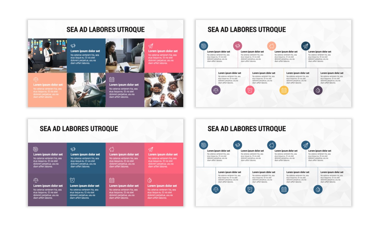 Circles PPT Template - Professional - Navy - Purple - Business - Professional Slide20