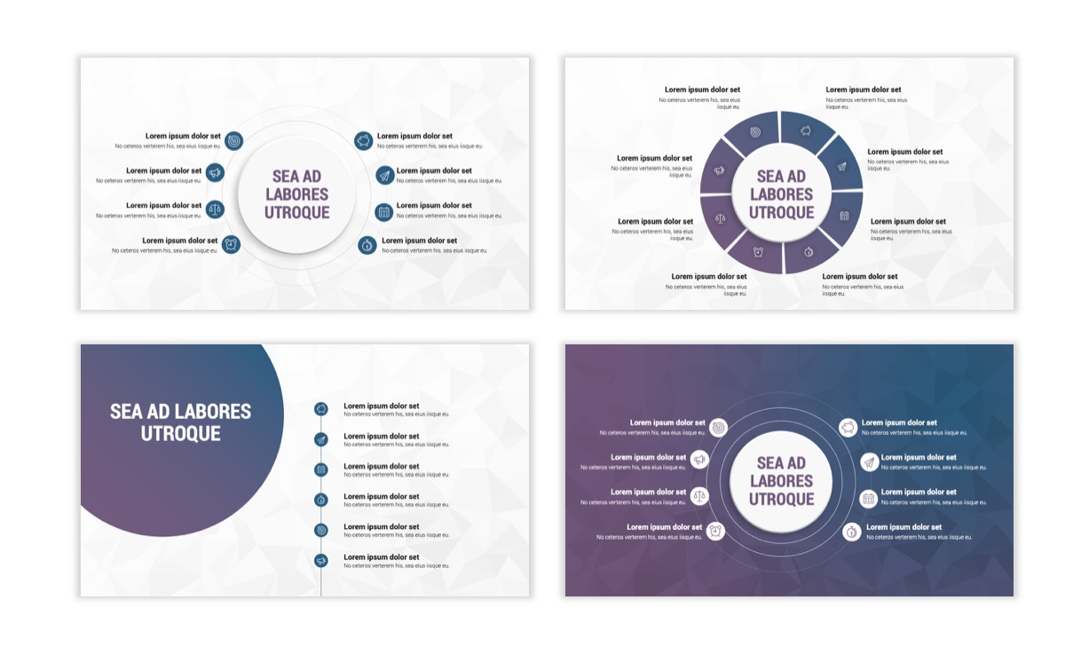Circles PPT Template - Professional - Navy - Purple - Business - Professional Slide22