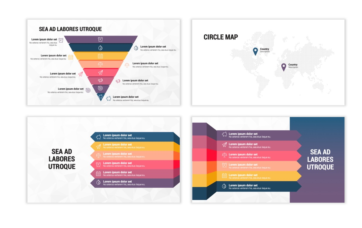 Circles PPT Template - Professional - Navy - Purple - Business - Professional Slide24