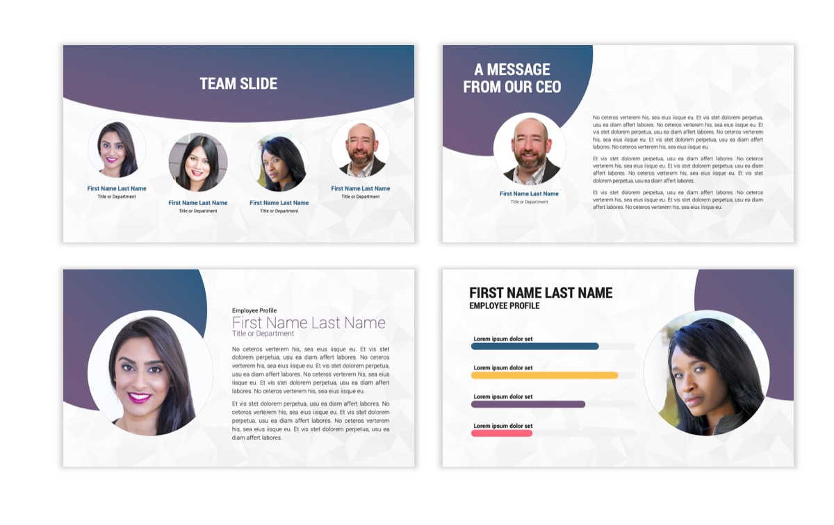 Circles PPT Template - Professional - Navy - Purple - Business - Professional Slide26