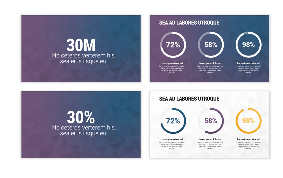 Circles PPT Template - Professional - Navy - Purple - Business - Professional Slide27