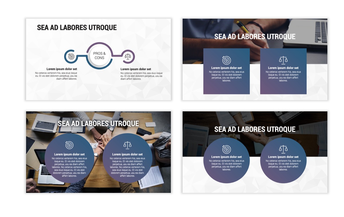 Circles PPT Template - Professional - Navy - Purple - Business - Professional Slide3