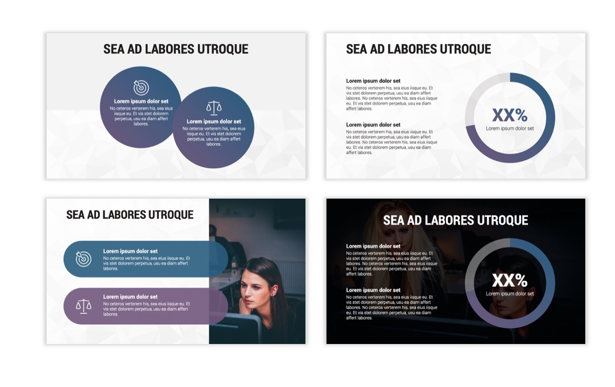 Circles PPT Template - Professional - Navy - Purple - Business - Professional Slide4