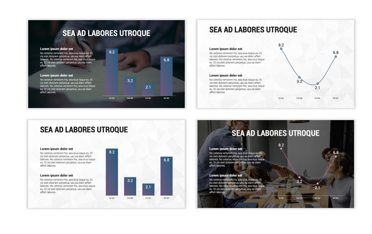 Circles PPT Template - Professional - Navy - Purple - Business - Professional Slide5