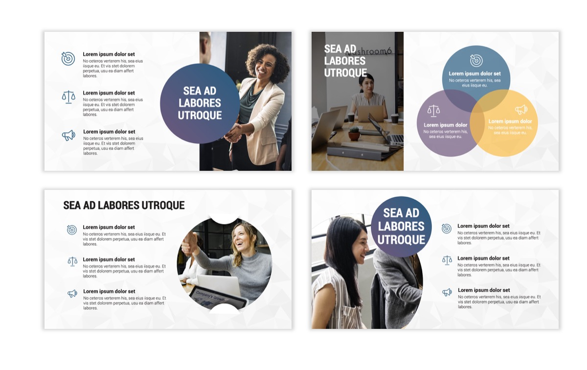Circles PPT Template - Professional - Navy - Purple - Business - Professional Slide6