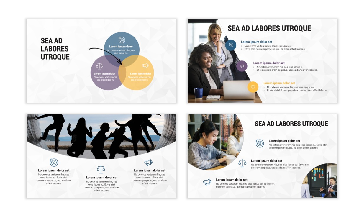 Circles PPT Template - Professional - Navy - Purple - Business - Professional Slide7