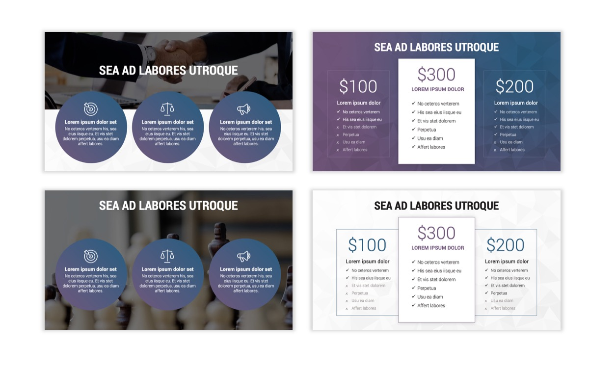 Circles PPT Template - Professional - Navy - Purple - Business - Professional Slide8