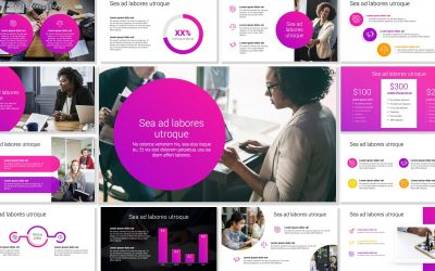 LONDON CIRCLES PINK PROFESSIONAL POWERPOINT TEMPLATE