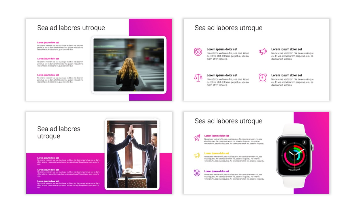 Circles PPT Template - Professional - Pink - Purple - Bright - Business - Professional Slide11