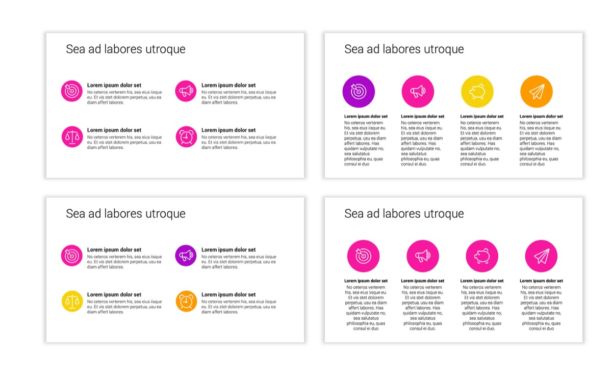 Circles PPT Template - Professional - Pink - Purple - Bright - Business - Professional Slide12